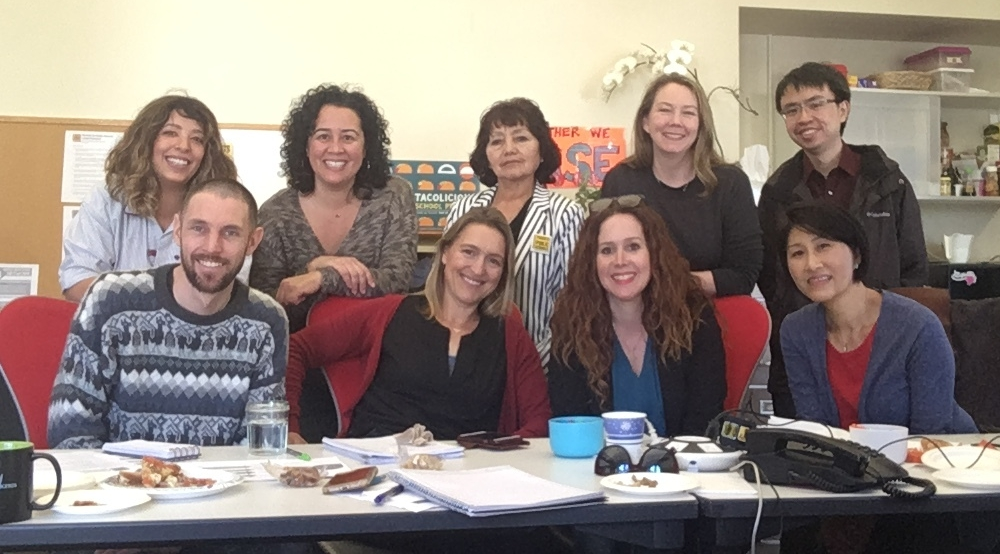 Members of the PPS-SF team in a recent planning meeting. Not pictured: Enrollment gurus, Rachel Nip and Maria Webster.
