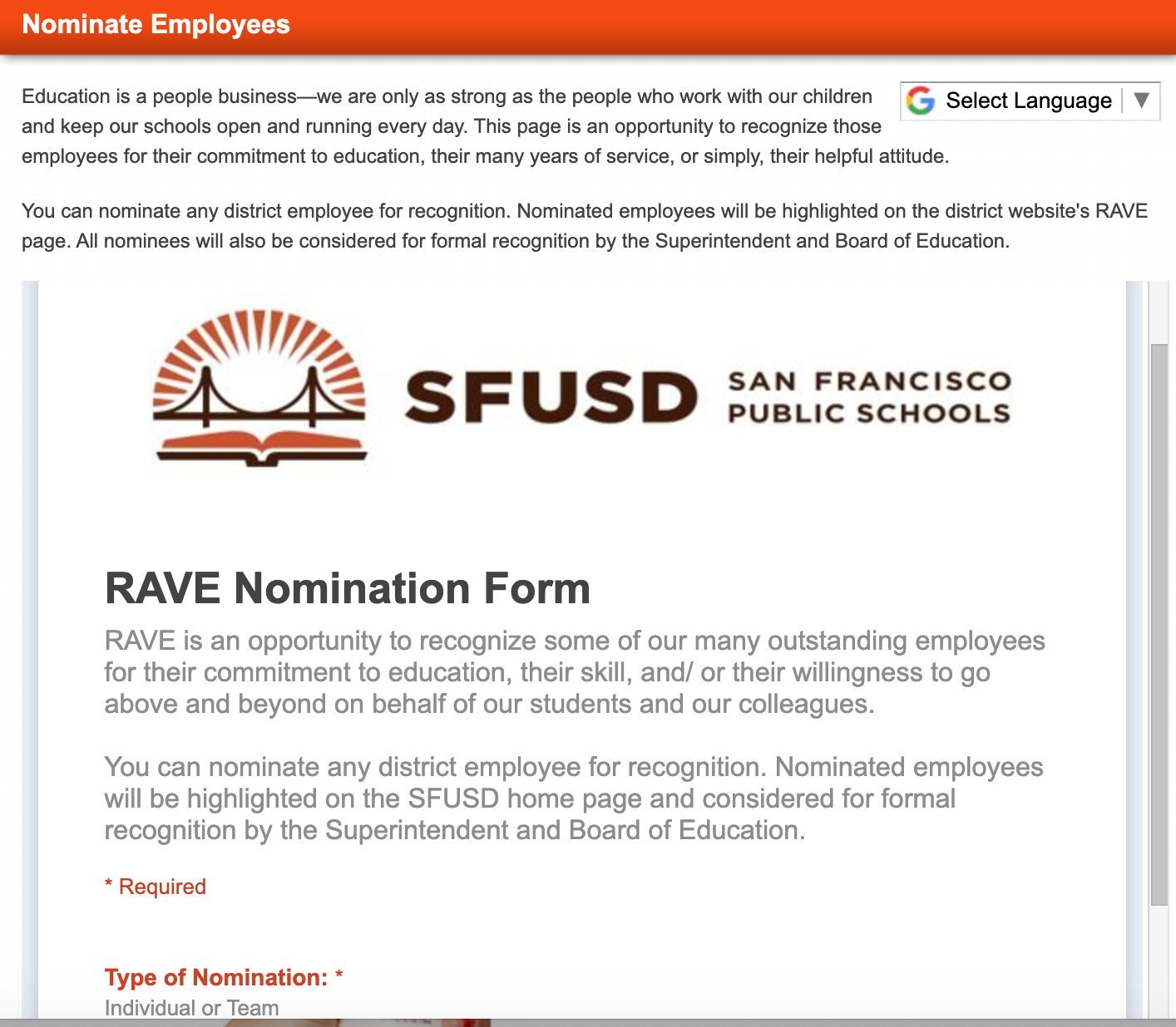 Click here to learn how to nominate someone for a RAVE award!