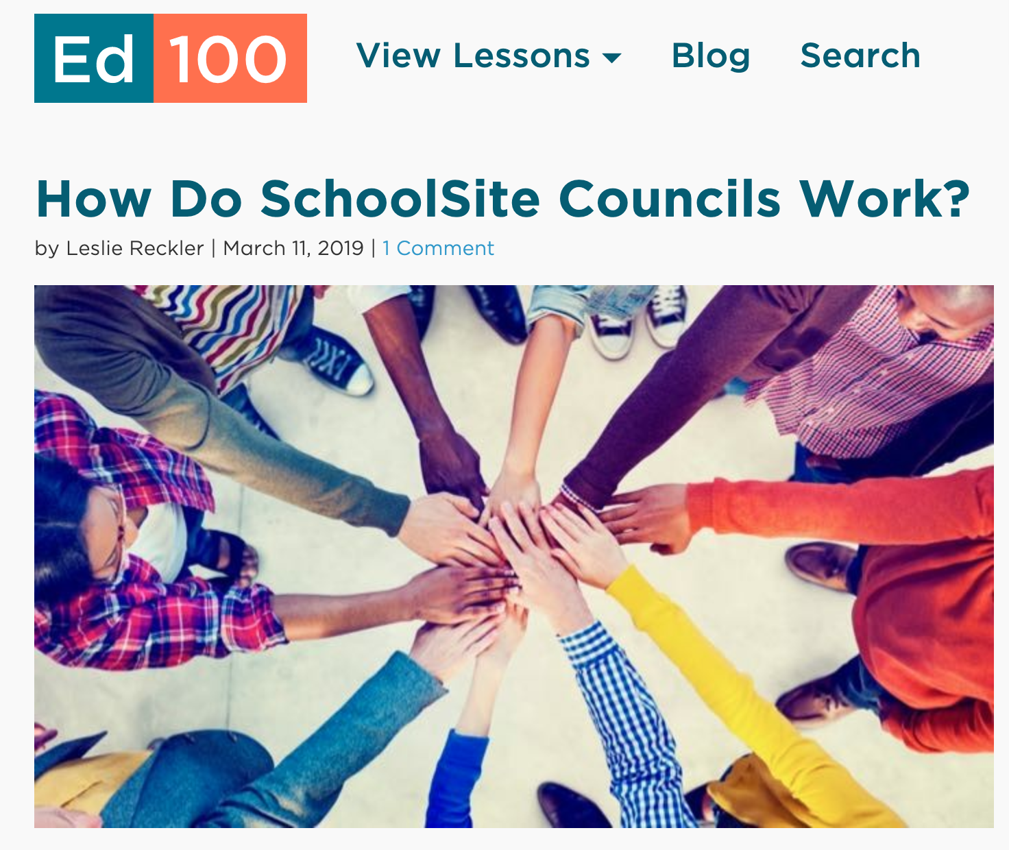 View this ed100.org lesson:  https://ed100.org/blog/school-site-councils .