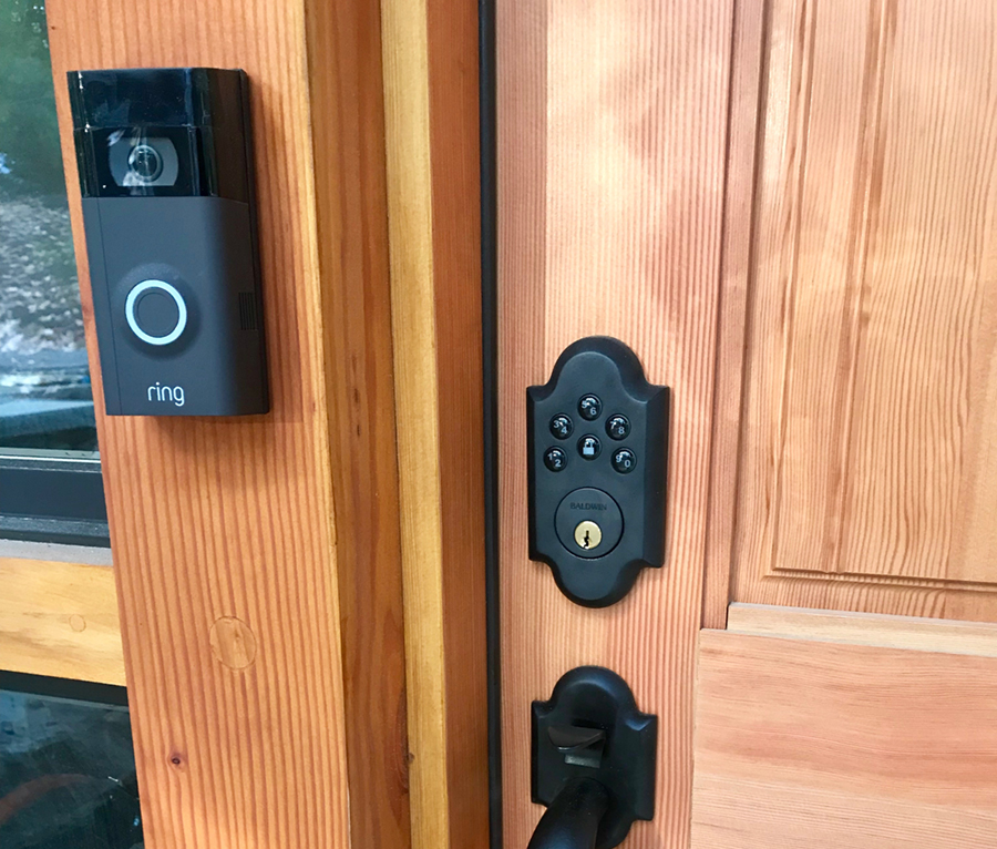 Ring Doorbell System with keypad deadbolt lock