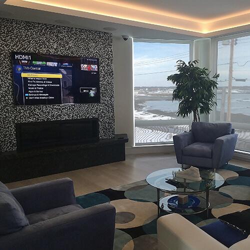 Media Room with custom room settings