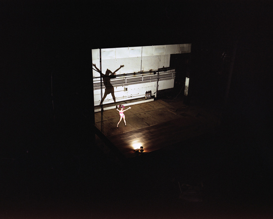 Dancer onstage, Henry Miller's Theatre, NYC 2000