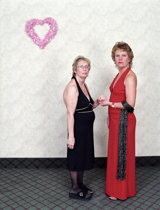 Women Holding Hands, Valentine's Day Hotel Takeover, Minneapolis, MN. February 2004