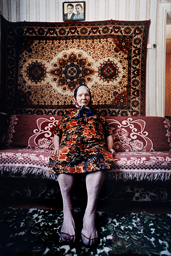 Mother of a gravely ill Chernobyl liquidator—a person responsible for clean up of the 1986 exploded nuclear reactor. Belarus, 2003