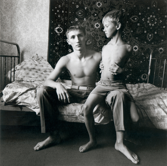 Jenya and Vitally on a Spring Bed, Russia, 2003