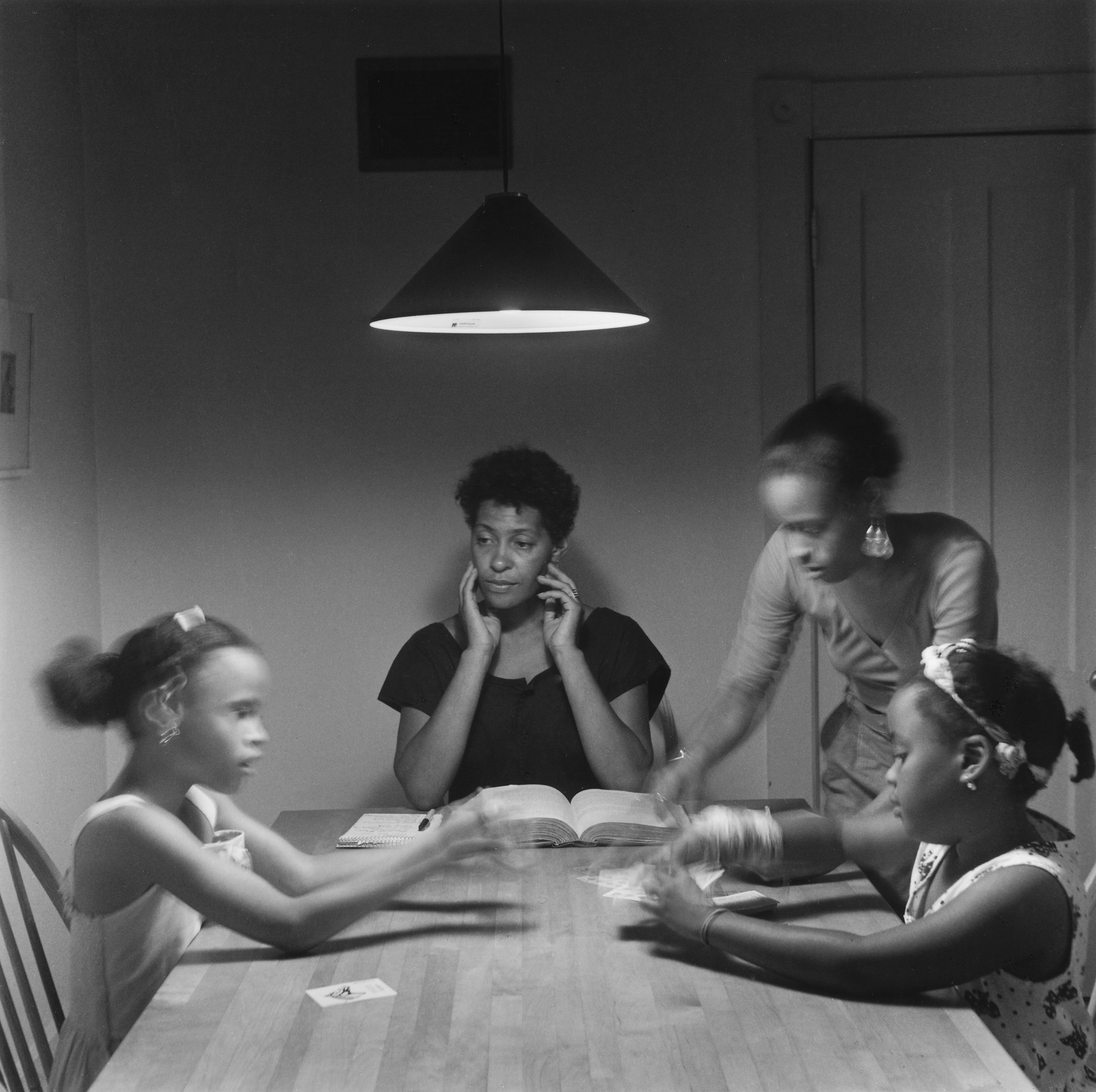 Untitled (Woman and Daughter with Children from Kitchen Table Series), 1990