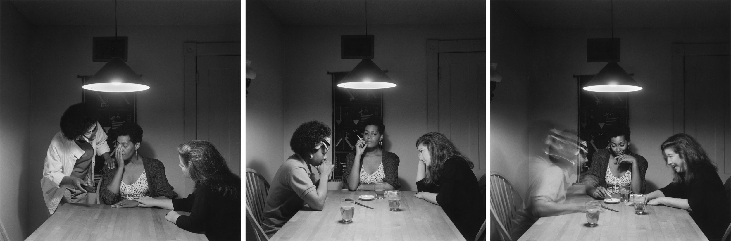 Untitled (Woman with friends) triptych, 1990