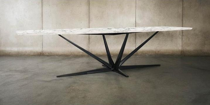 Agave / Alexander Diaz Andersson, dining table in walnut with steel base available in several sizes