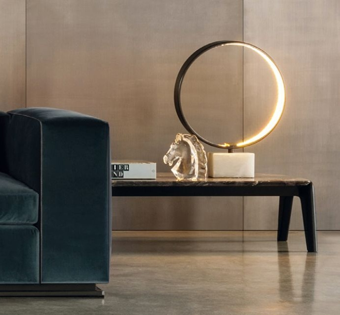 Ecliss, table lamp with ring of nuanced brightness for an incredible astral experience