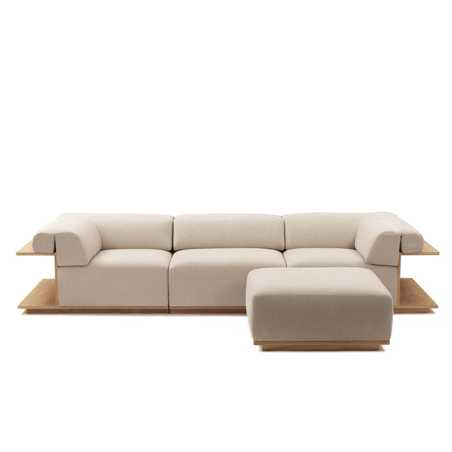 Rest Sofa by Arthur De M. Casas / Etel Design, in fabrics