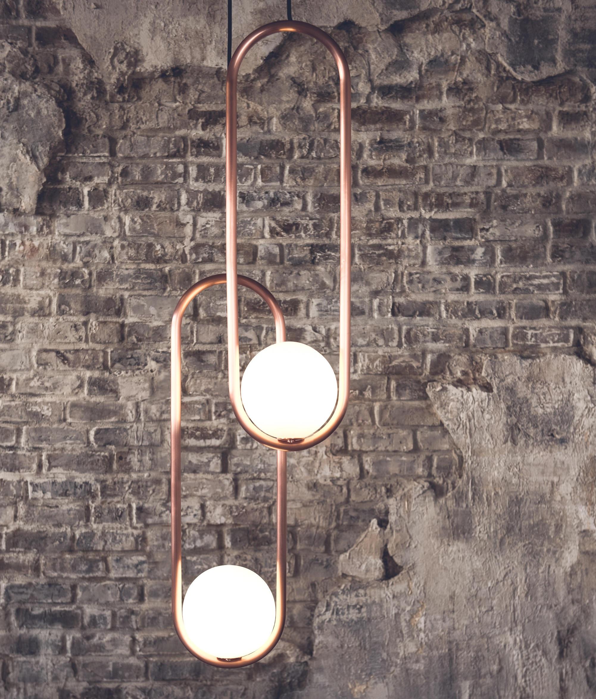 Mila, steel and LED bulb
