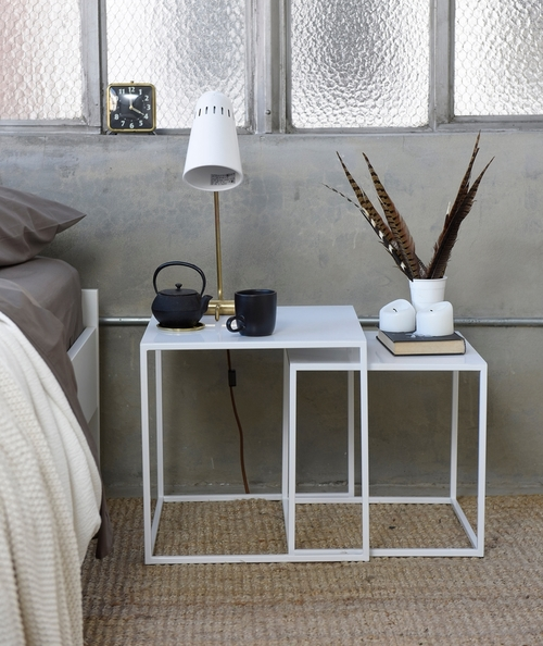 Frisco Nesting Patrick Cain Designs side table / steel
