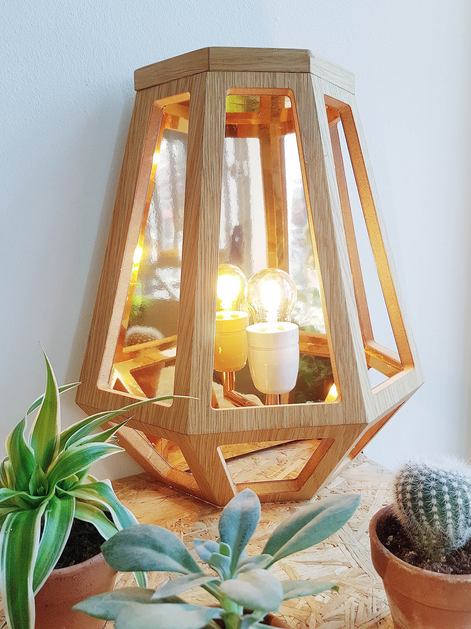 Françoise Oostwegel lamp / wood