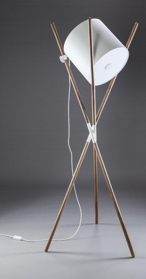 Floor lamp Artisan / oak and steel