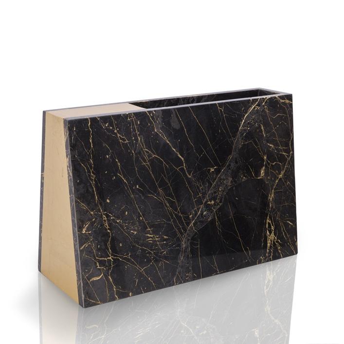 Barricade / 30x12x19cm / Pocahontas-gold marble