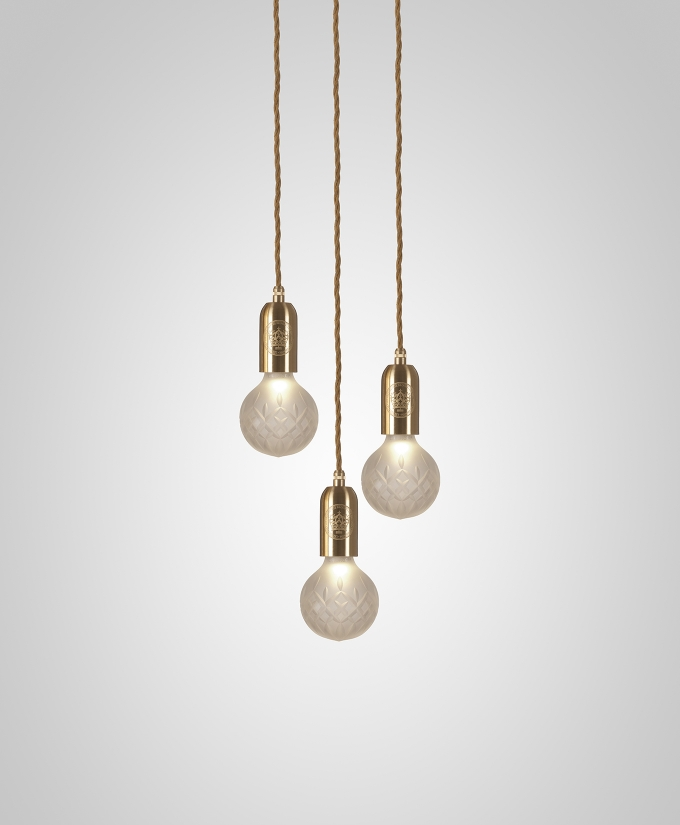 Crystal Bulb chandelier / Lee Broom, spectacular crystal cluster, brass, chrome and steel