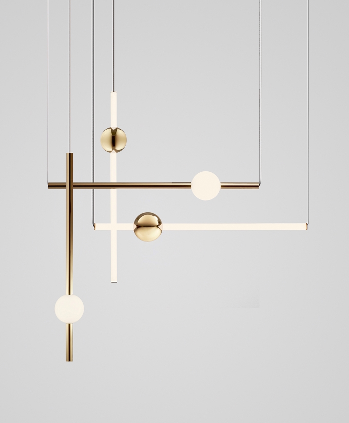 Orion tube light / Lee Broom, luminous constellation in acrylic and steel