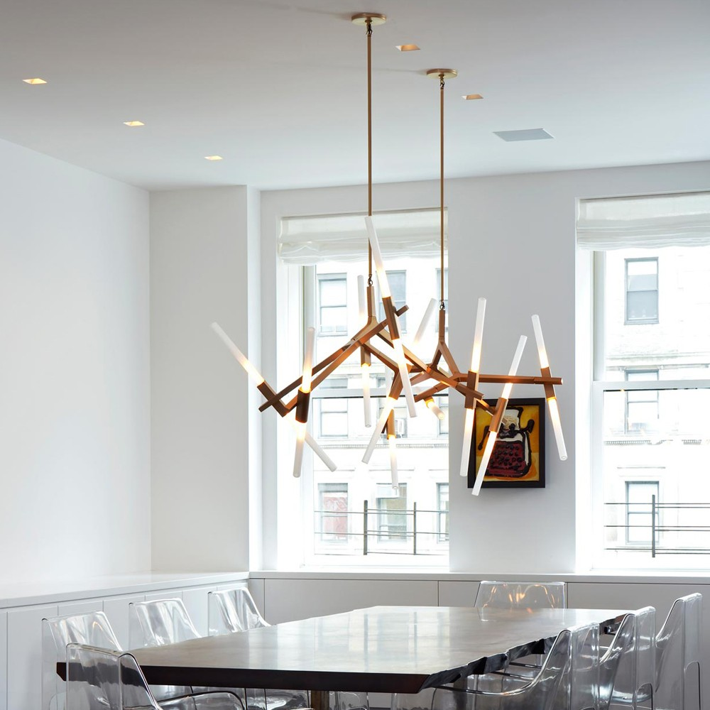 Agnes / Lindsey Adelman, glass chandelier with articulated joints