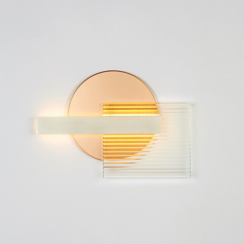 Kazimir / Kazimir Malevich for Ladies & Gentlemen studio, wall lamp with textured and colored glass
