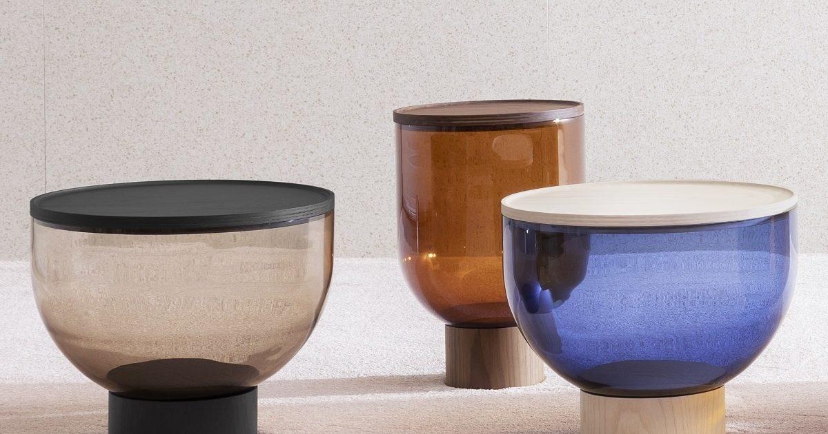 Mastea / Matteo Zorzenoni for Miniforms, glass coffee table in different sizes and colors