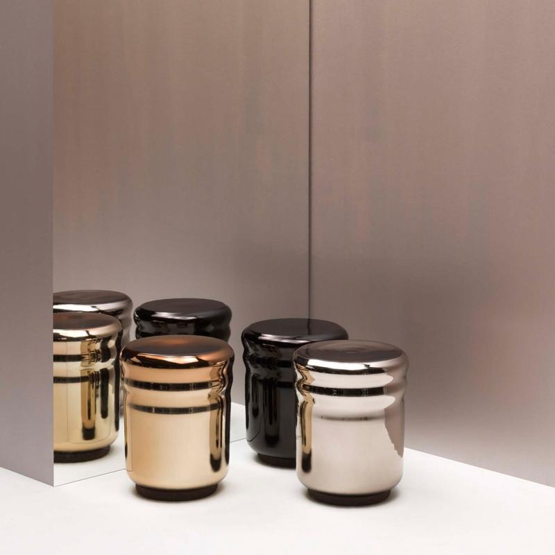 Wave / Haymann, Dan Yeffet & amp; Lucie Koldova, Blown glass stool and burnished cork base