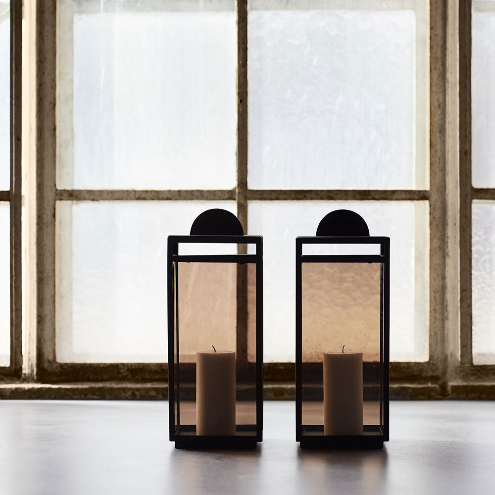 Turris / AYTM, lantern with tinted glass available in several colors and sizes