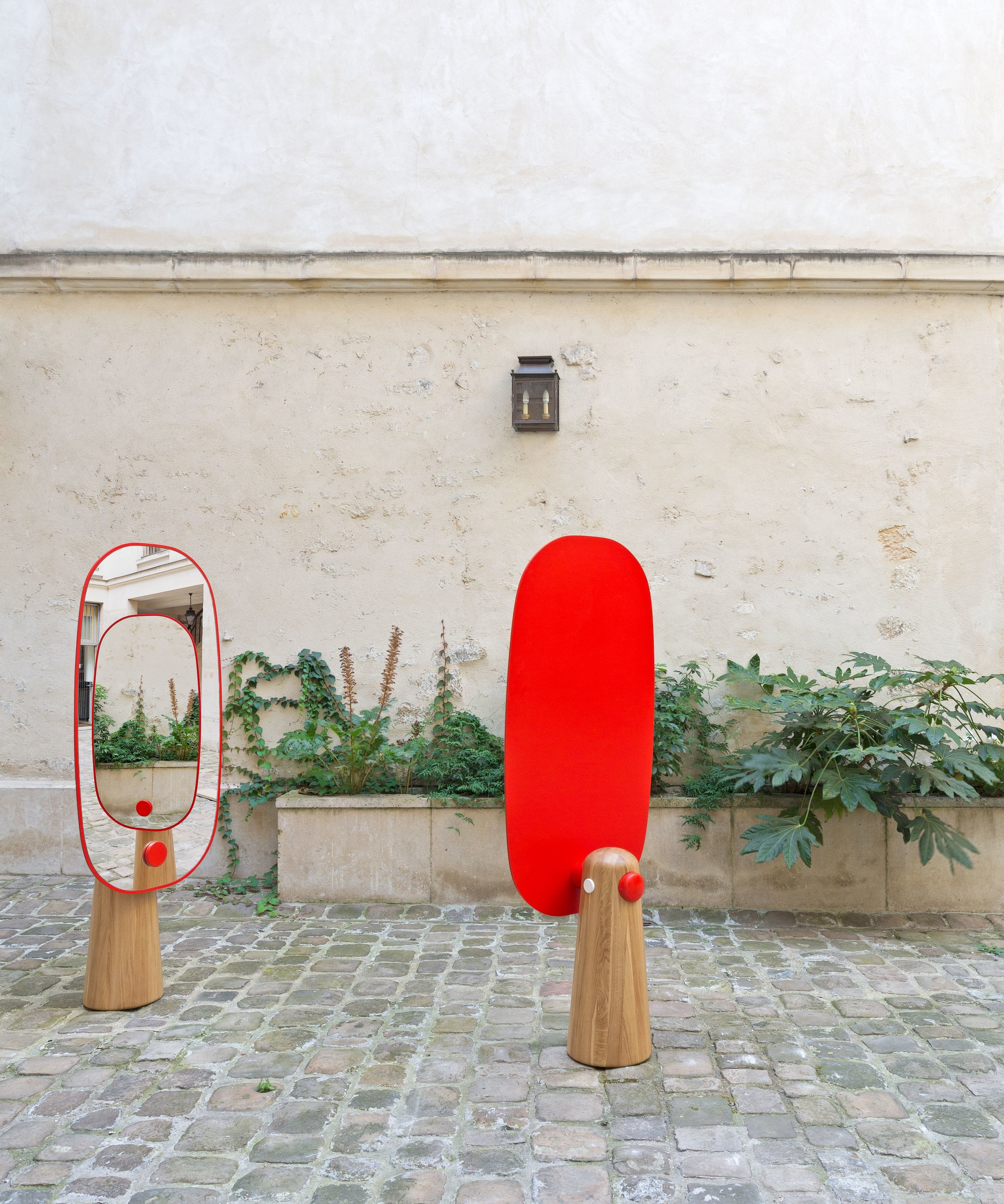 Iconic / Dan Yeffet & Lucie Koldova for La Chance, Human-sized mirror available in different combinations of colors and materials