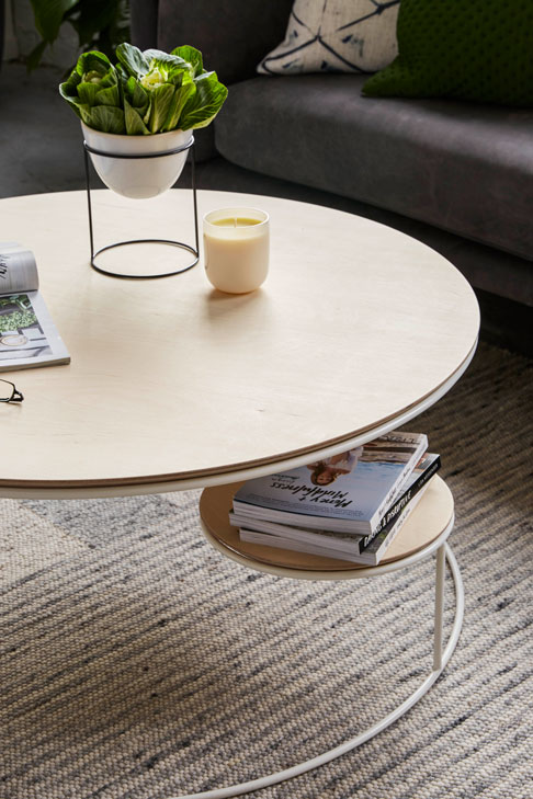 Lilly coffee table, 90cm (D) x40cm (H)