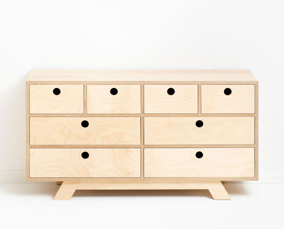 Rocca sideboard, 144cm (L) x45cm (D) x74cm (H), 3 storage drawers and 2 sliding doors