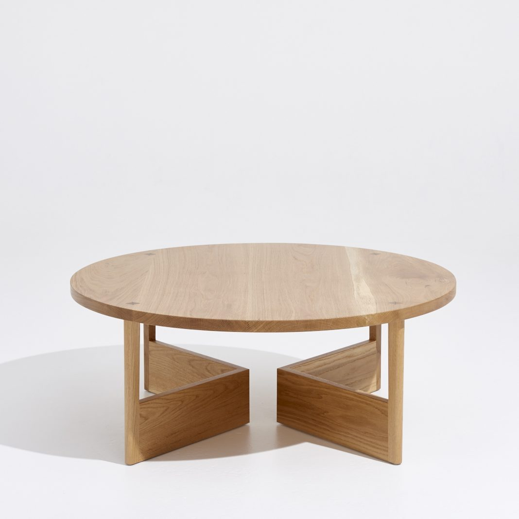 Across coffee table / 100cm (L) x100cm (W) x40cm (H), solid American oak with variety of finishes