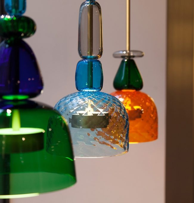 Flauti / Giopato & Coombes, LED, brass and glass