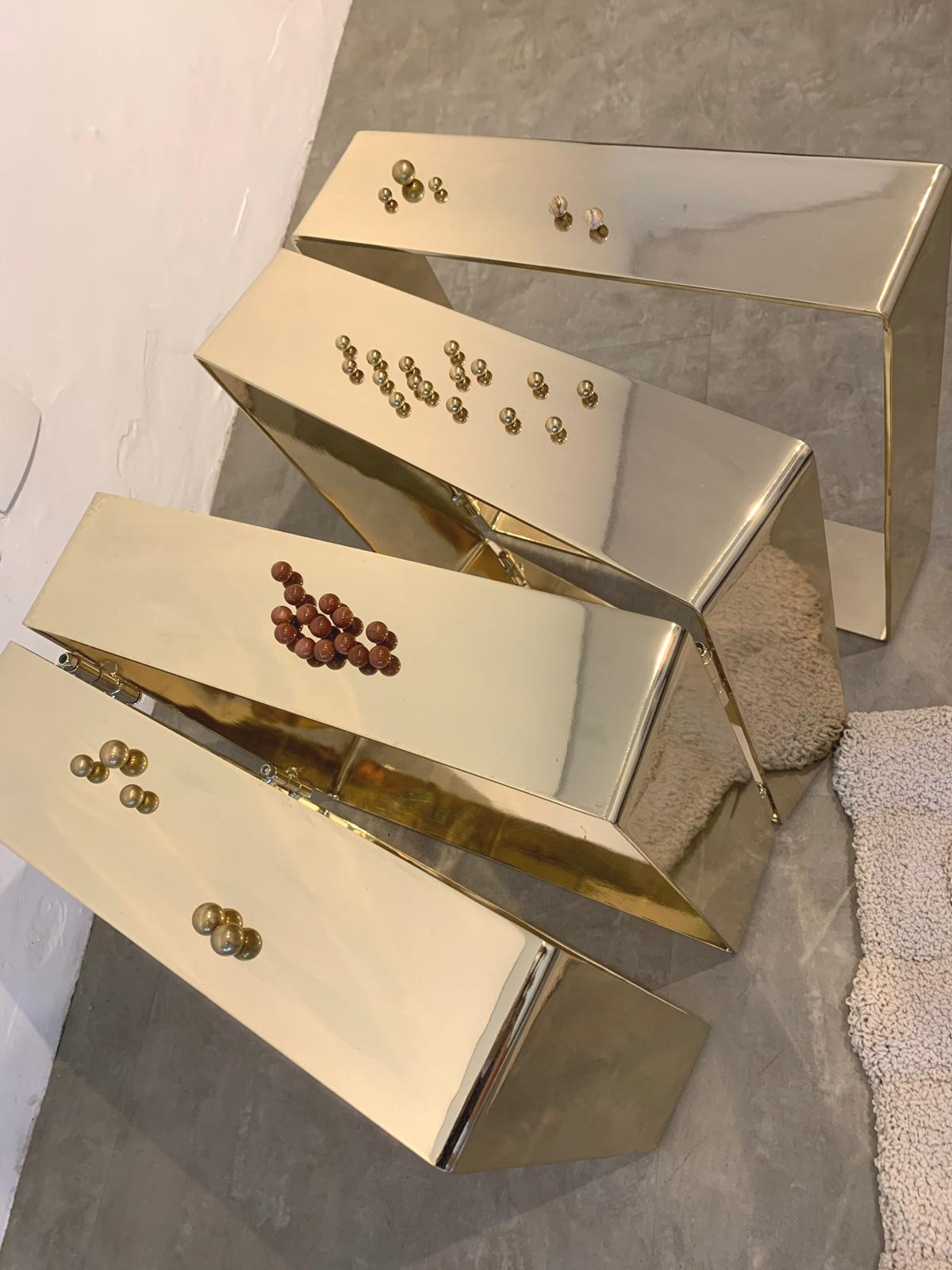 Banco Row / Paolo Ulian, limited edition golden bench