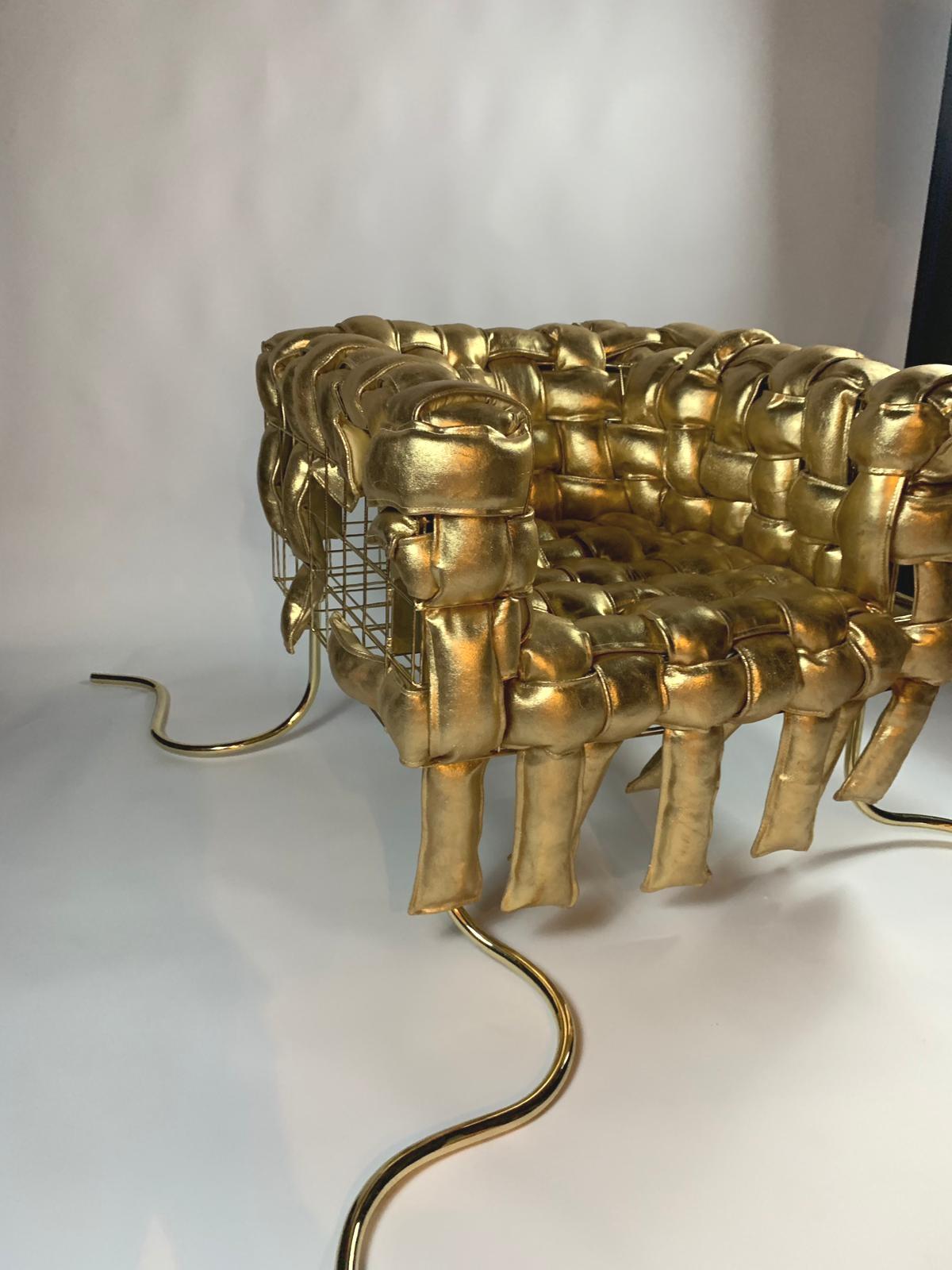 Underconstrucion / Pedro Franco, limited edition golden armchair