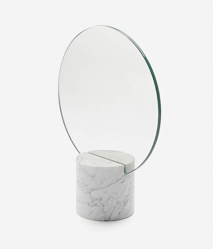 Marblelous Sun Mirror / Josep Vila Capdevila, marble, mirror, steel, copper or brass, 30x12x38cm