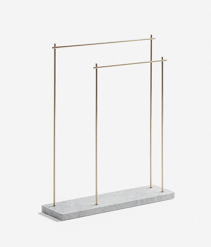 Marblelous Rack Holder / Josep Vila Capdevila, marble, copper and brass, 20x70x84.5cm