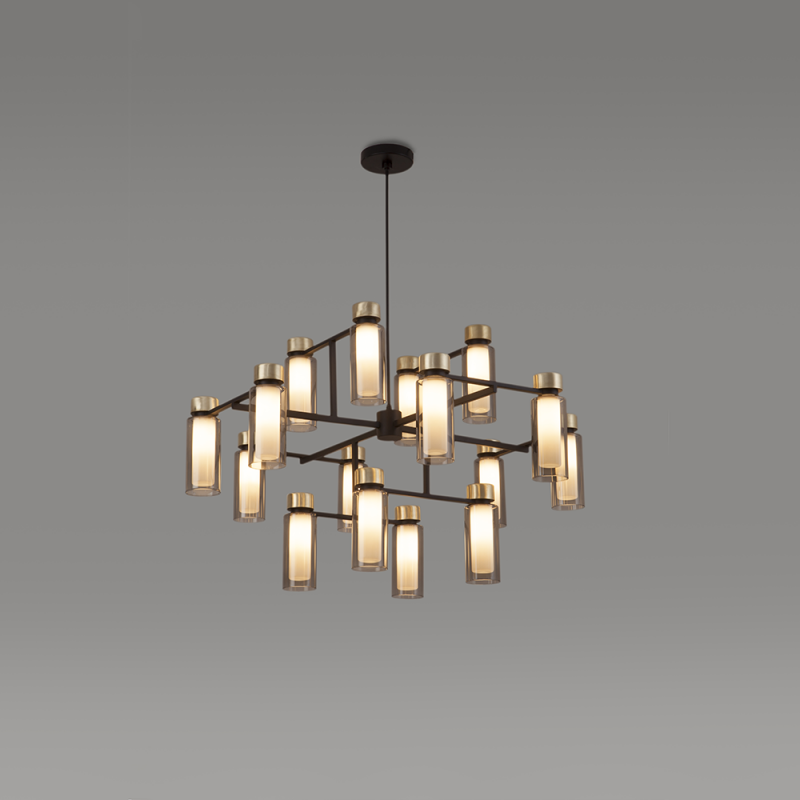 560.16 / Osman, chandelier, halogen and LED, 95x60cm