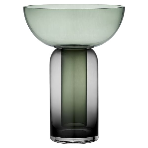 Torus / AYTM, glass vase, available in 2 different sizes, in pink, blue, green or amber