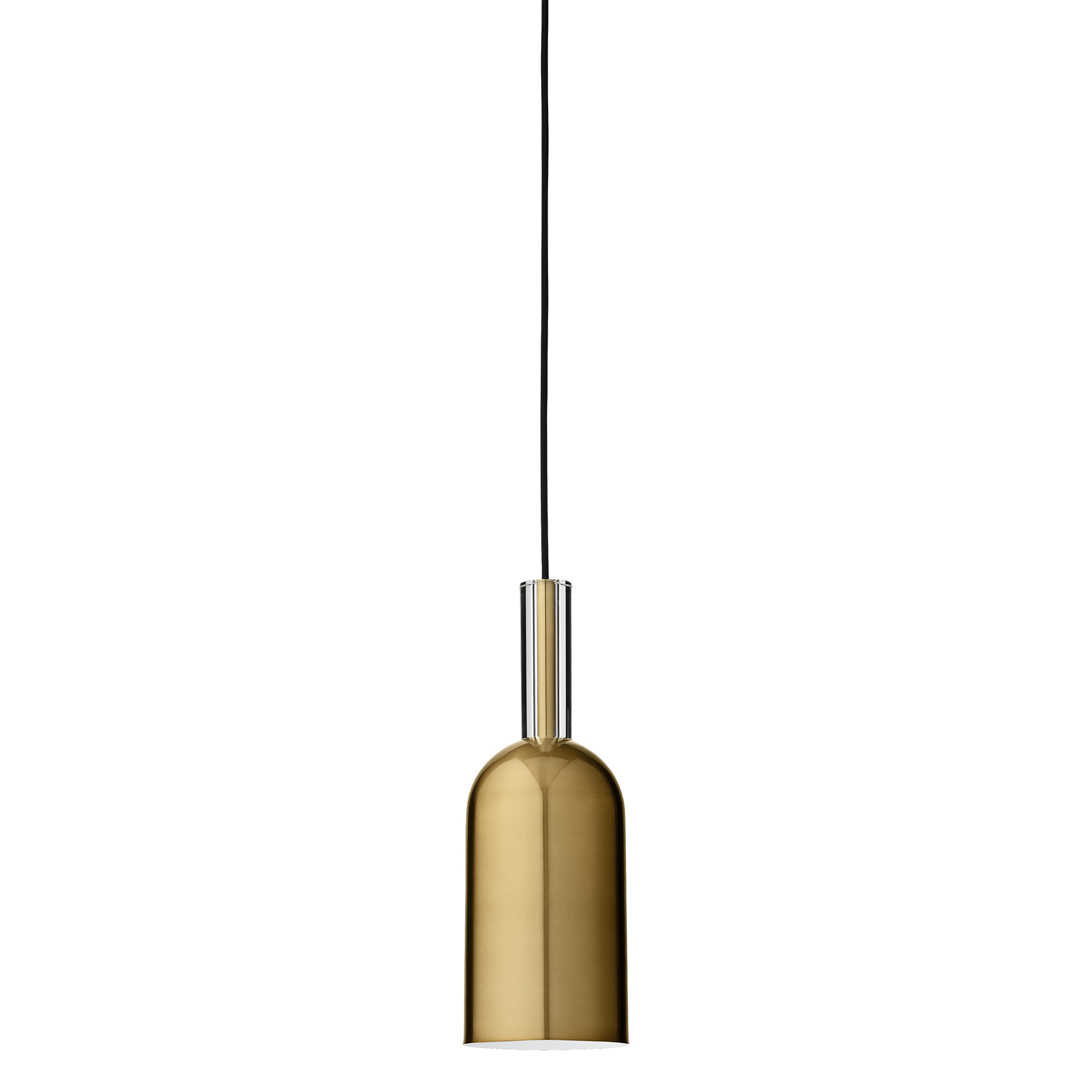 Luceo / AYTM, glass and iron pendant, Ø12xH35cm, available in gold or black