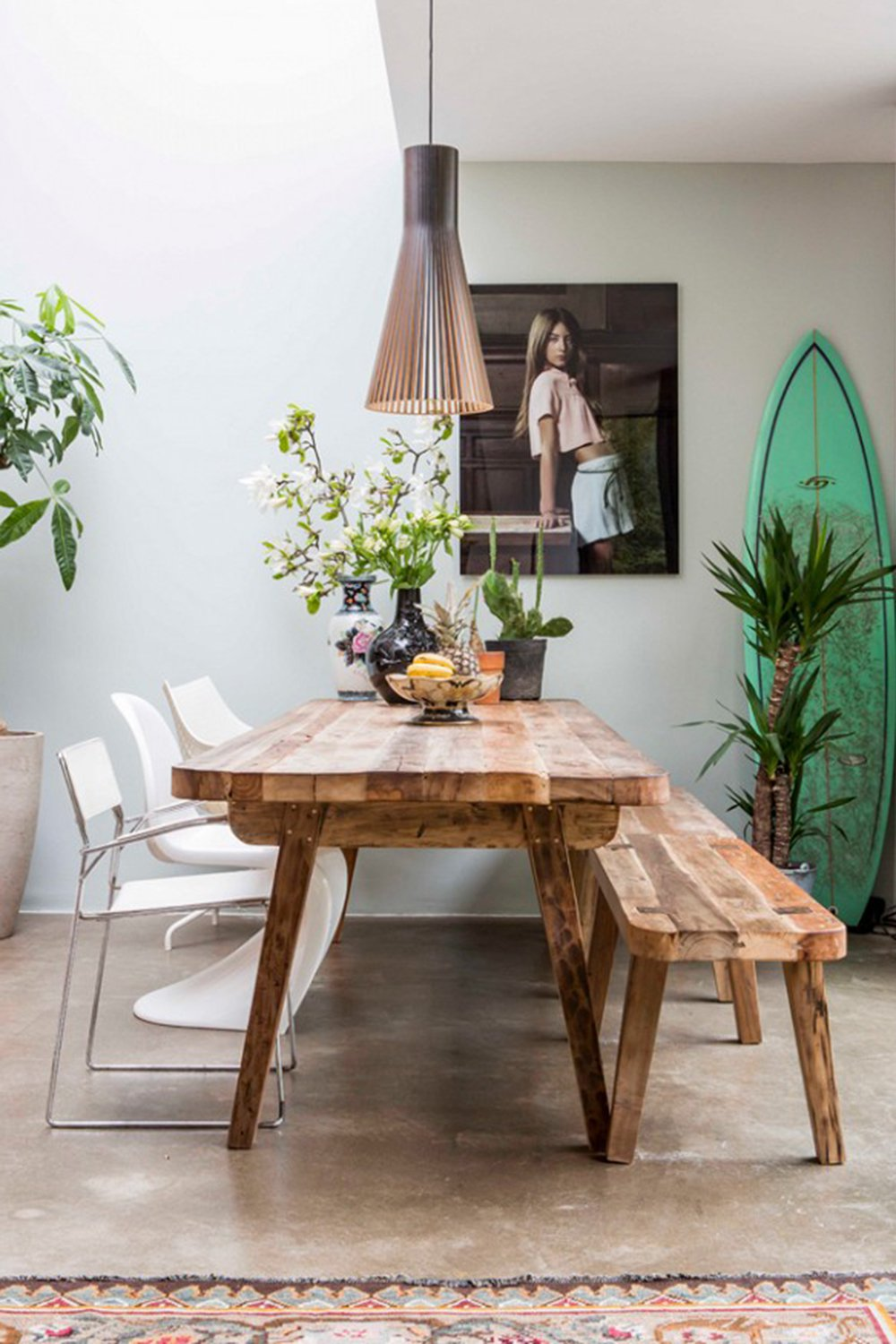 Californian style dining room (source: Pinterest)