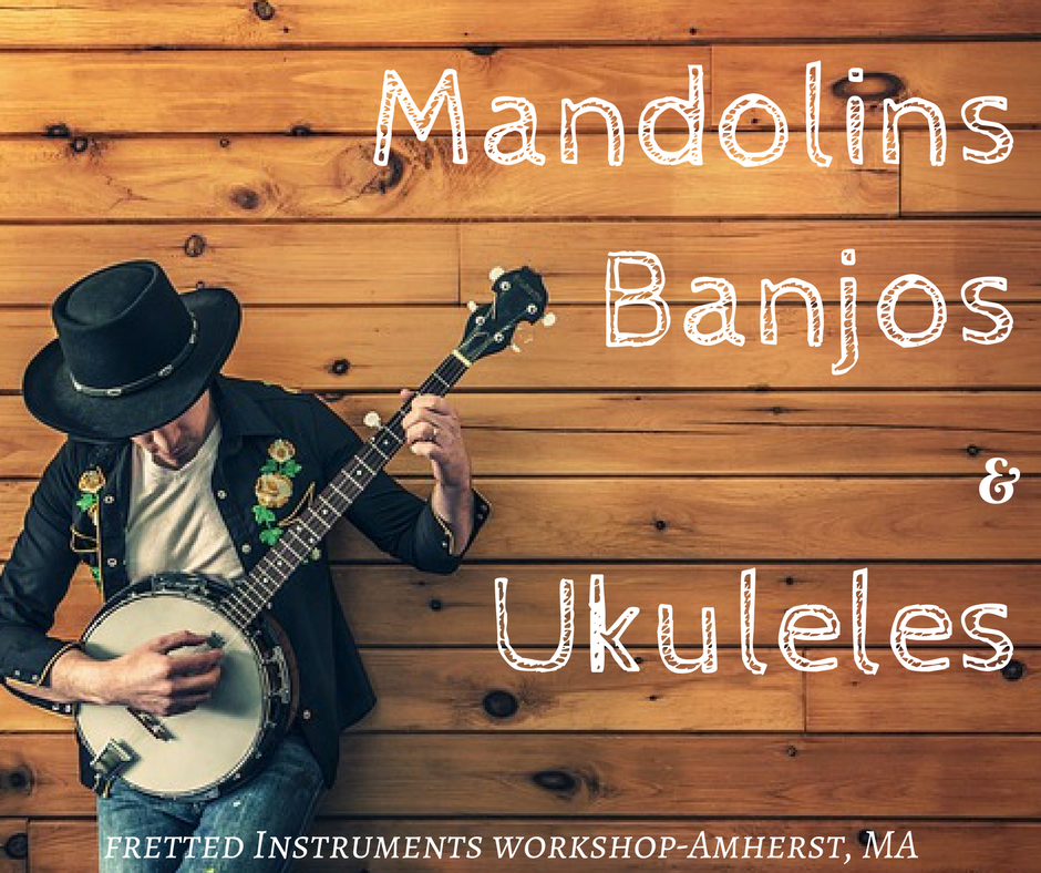 The best selection of mandolins, banjos, and ukuleles in Massachusetts at Fretted Instrument Workshop (Amherst)