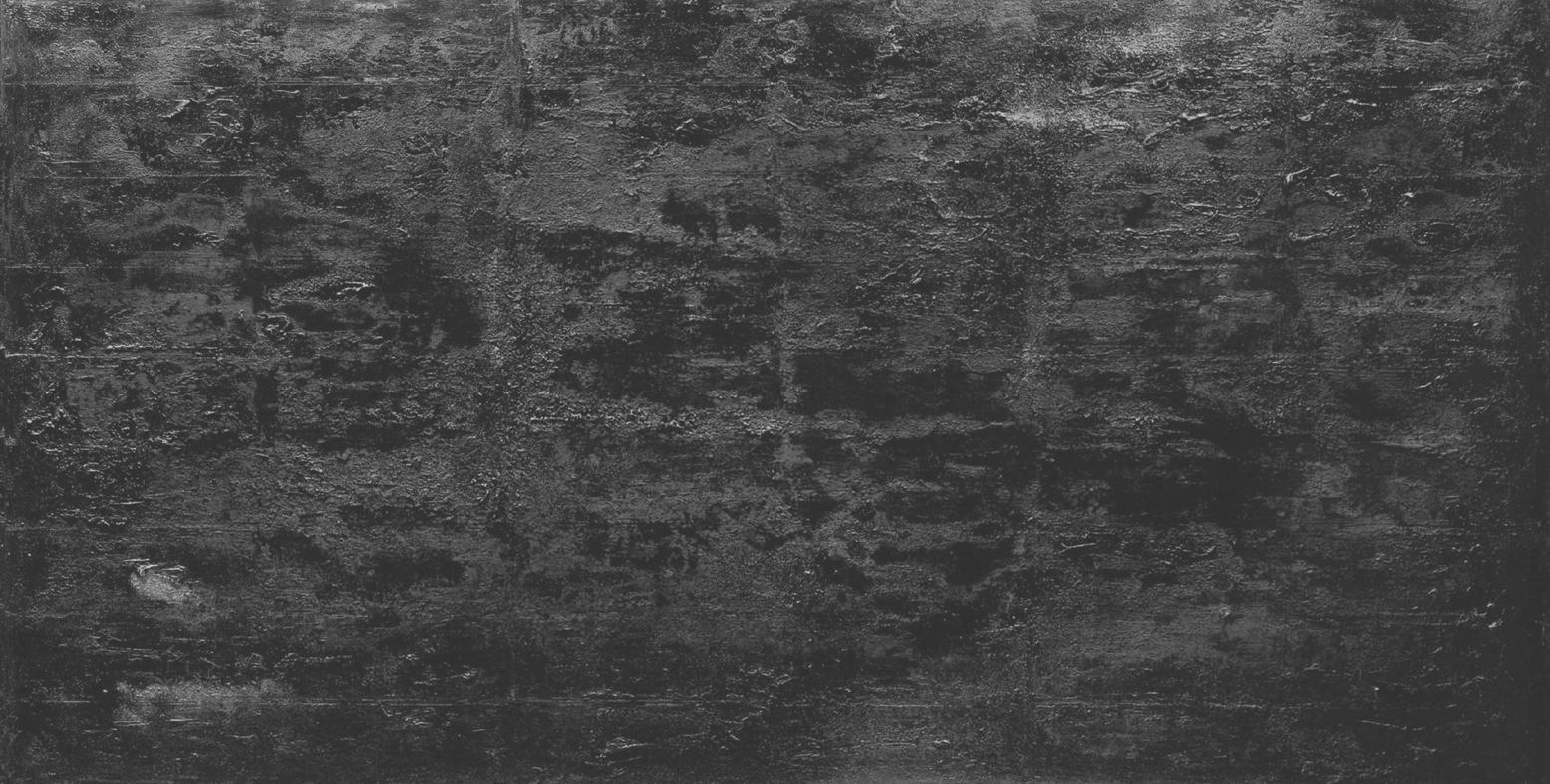 "Deep in black,2007 oil mixed media canvas 96x48"""
