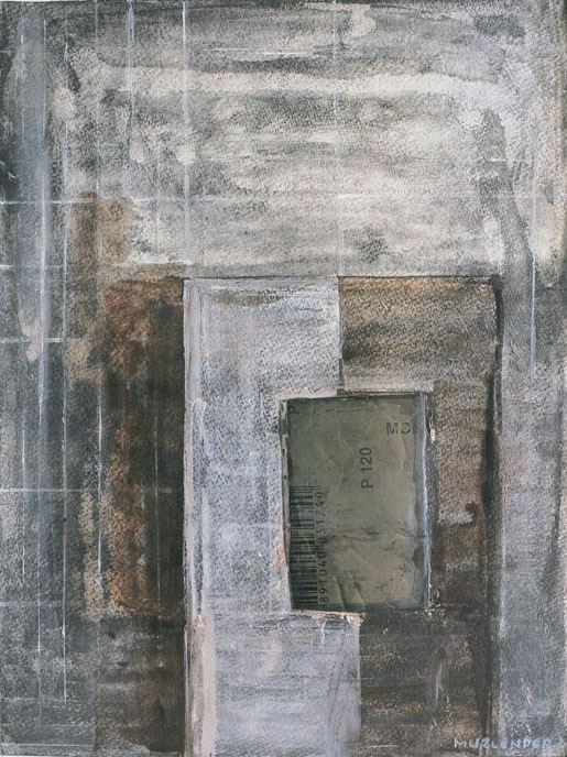 """Gray and earth, 2005 collage, acrylic, paper 16x12"""""""
