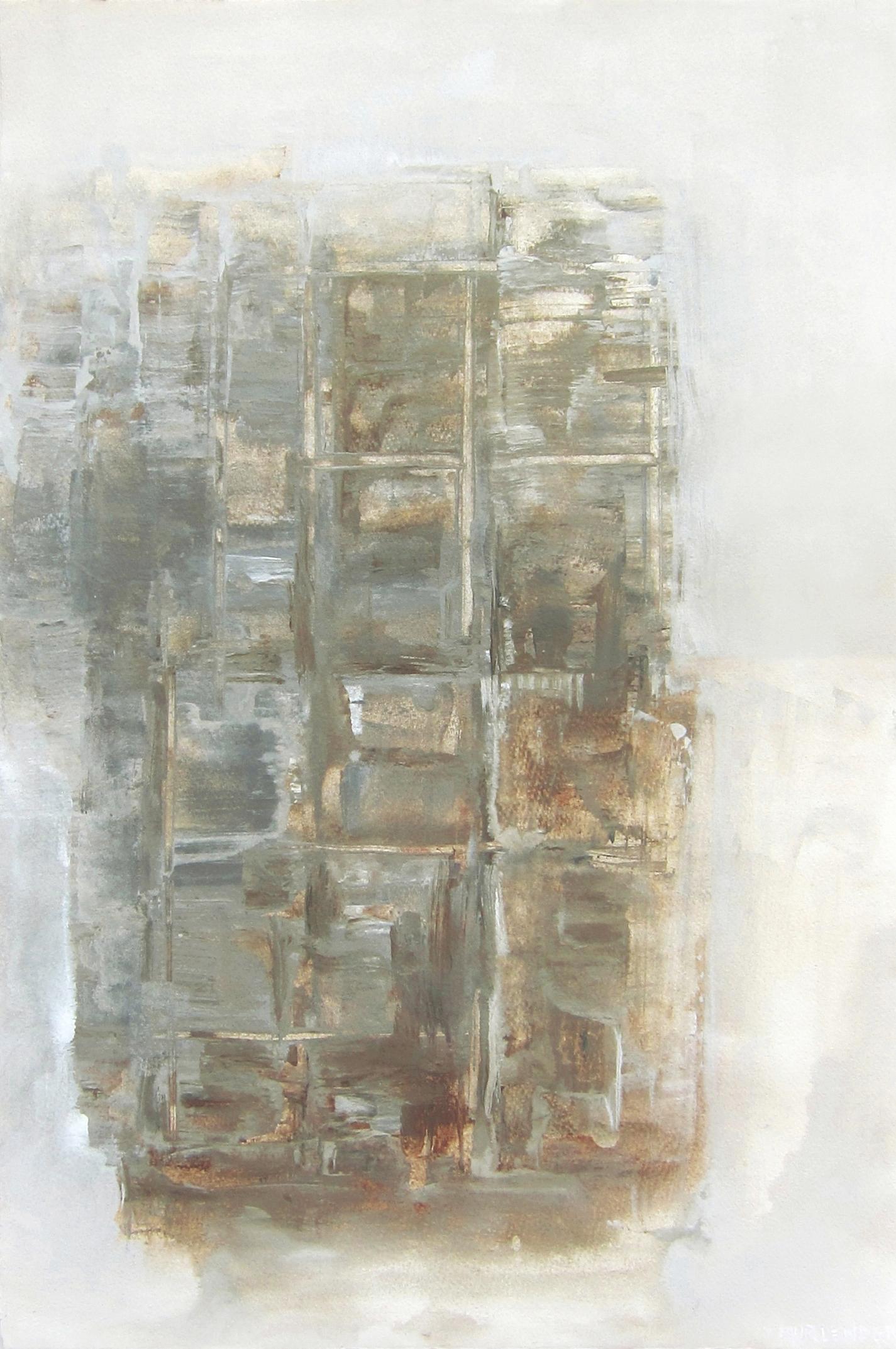 "Setting grid, 2013 mixed media, paper 22x15"""