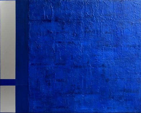 "Traversing edge,2011 oil, metal, mixed media on canvas 31x39"""