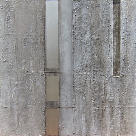 """Sequential paths,2011 oil, mixed media on canvas 31x31"""""""