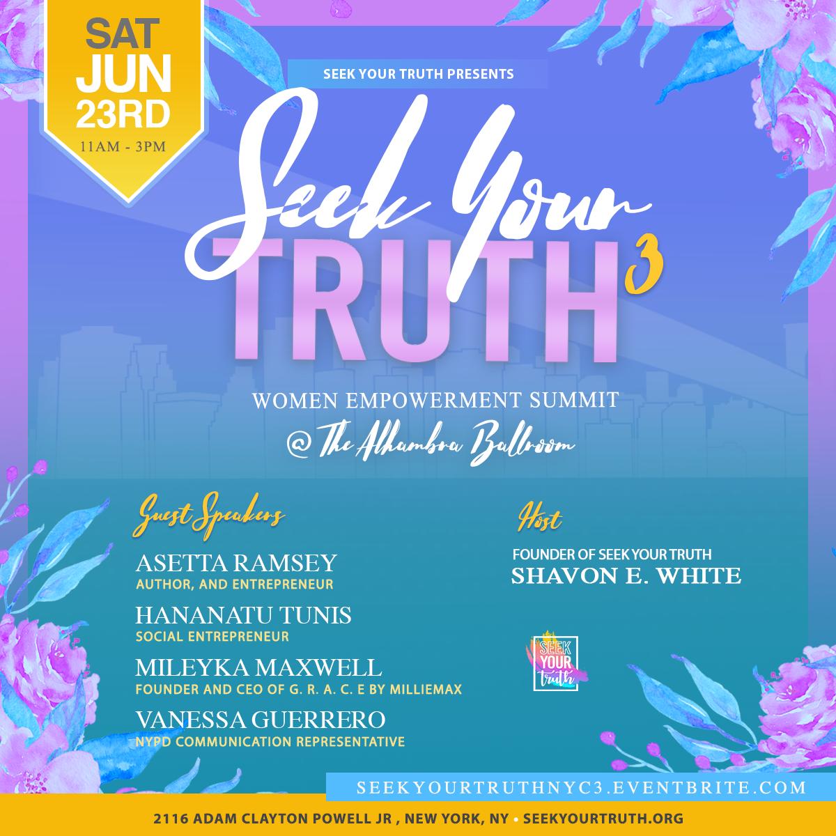 Seek Your Truth Women Empowerment Summit 2018