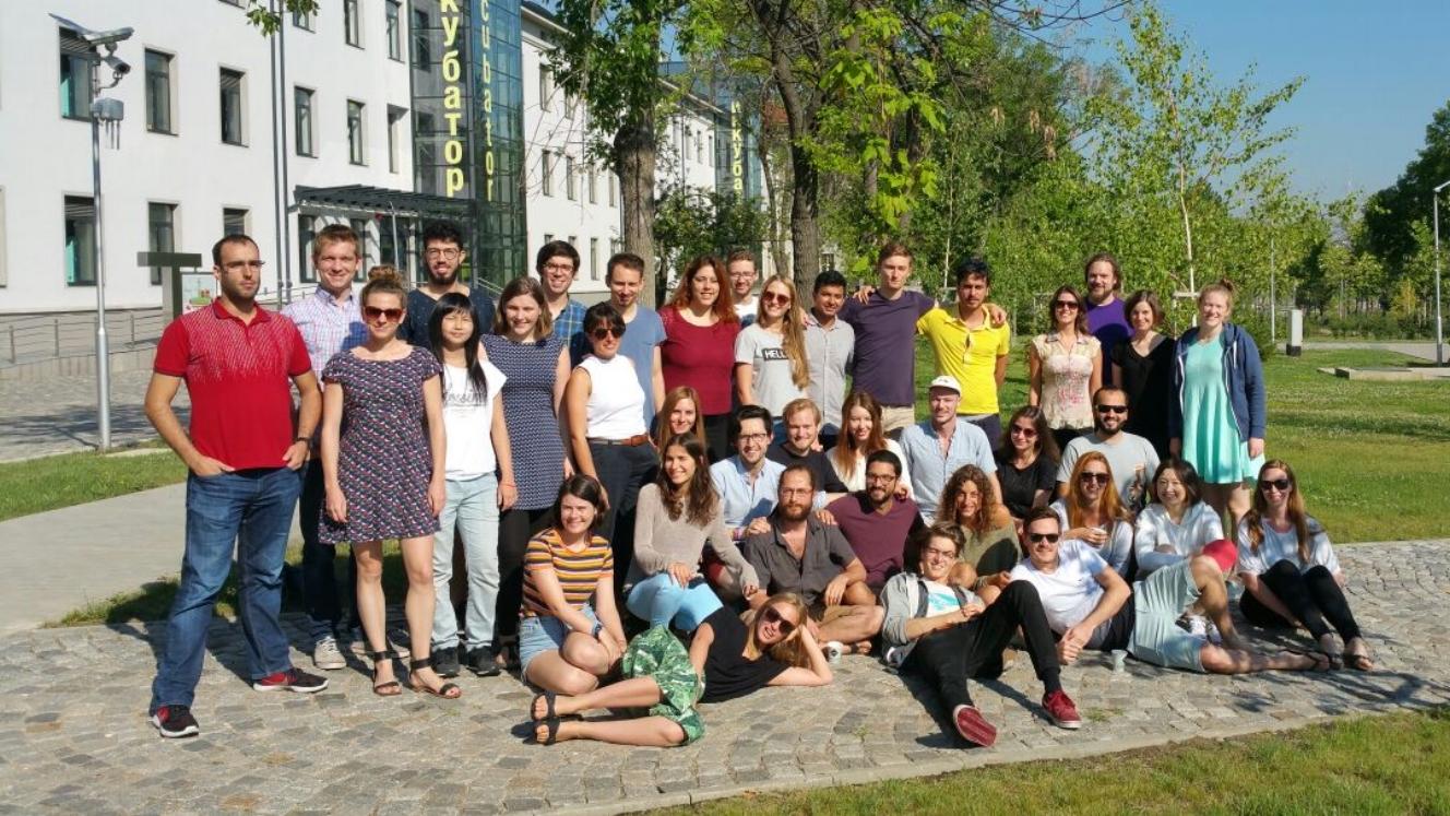 The Journey 1 (Cyprus - Bulgaria) Group at Sofia Tech Park.