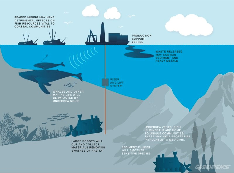 Figure       SEQ Figure \* ARABIC     1      :  Greenpeace International  potential effects of deep sea mining