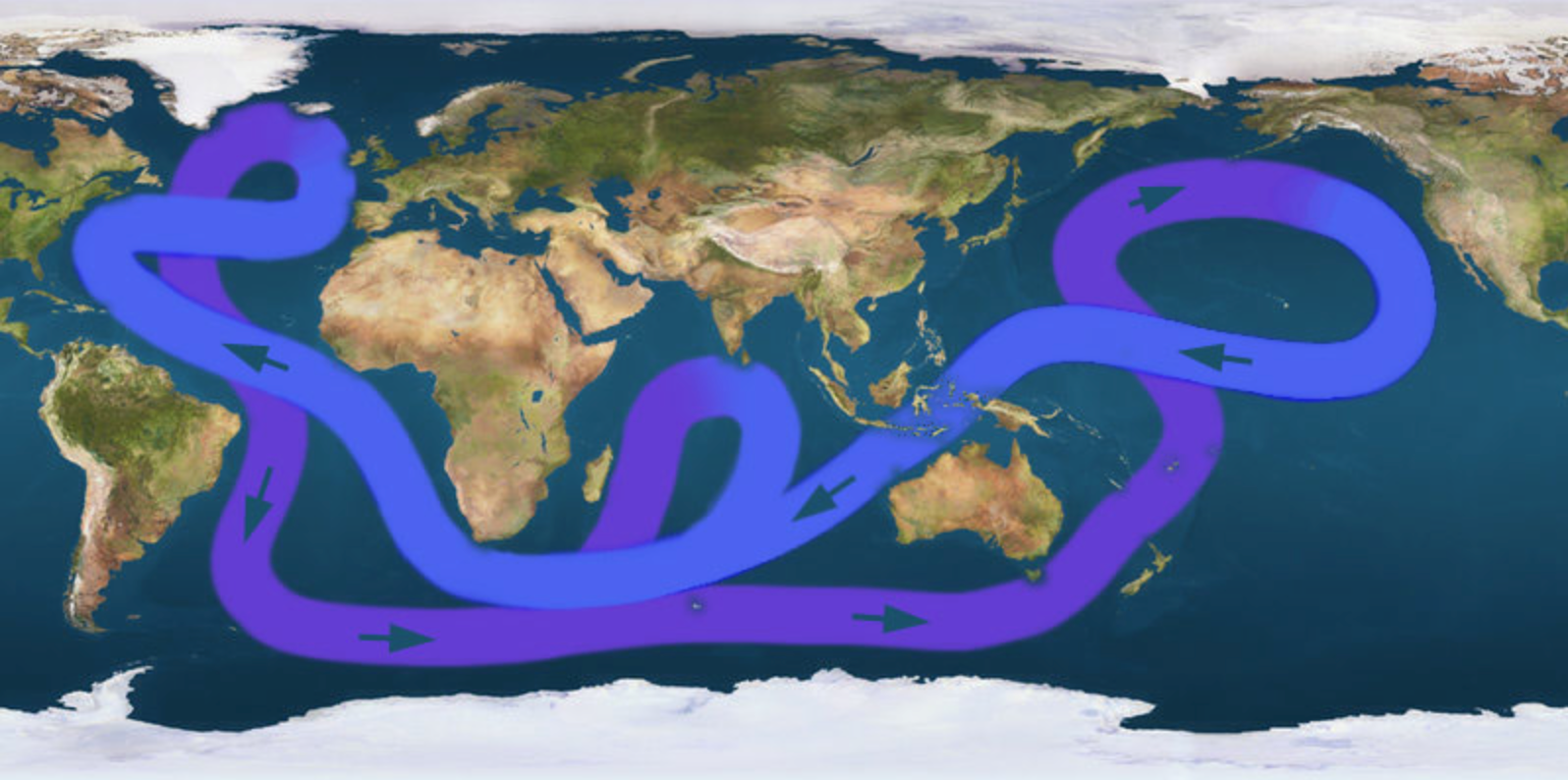 Are oceanic currents slowing due to global warming? (  sourced from    Wikimedia Commons   )
