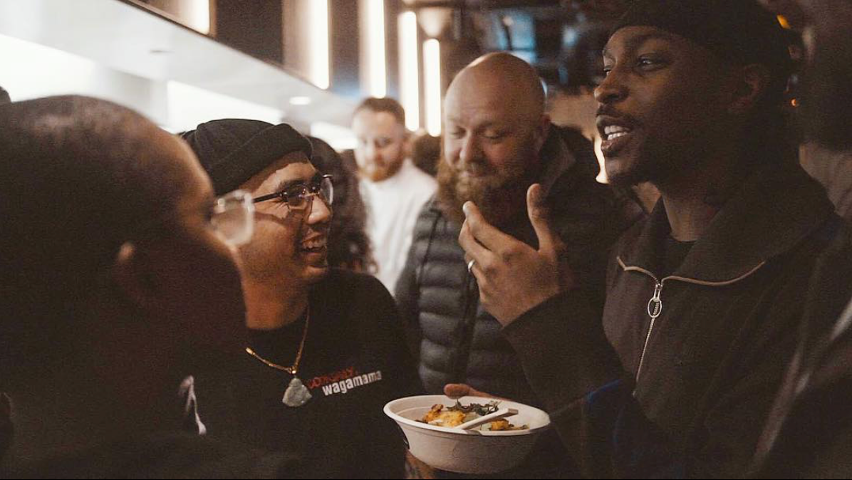 "Photo:  Instagram @kingcookdaily : ""2014 Me & JME would make up our own vegan meals at wagamama by ordering a selection of sides 😆 Fast forward 2018 and i have my own Vegan bowl  @wagamama_uk  🍜 and of course it's BBK Approved 👌🏾"""